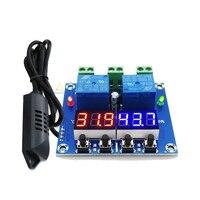 XH-M452 DC 12 В светодиодный цифровой термостат контроль температуры и влажности термометр контроллер гигрометра релейный модуль AM2301 зонд