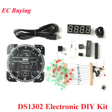 Rotating DS1302 Digital LED Display Module Alarm Electronic DIY Kit Digital Cloc