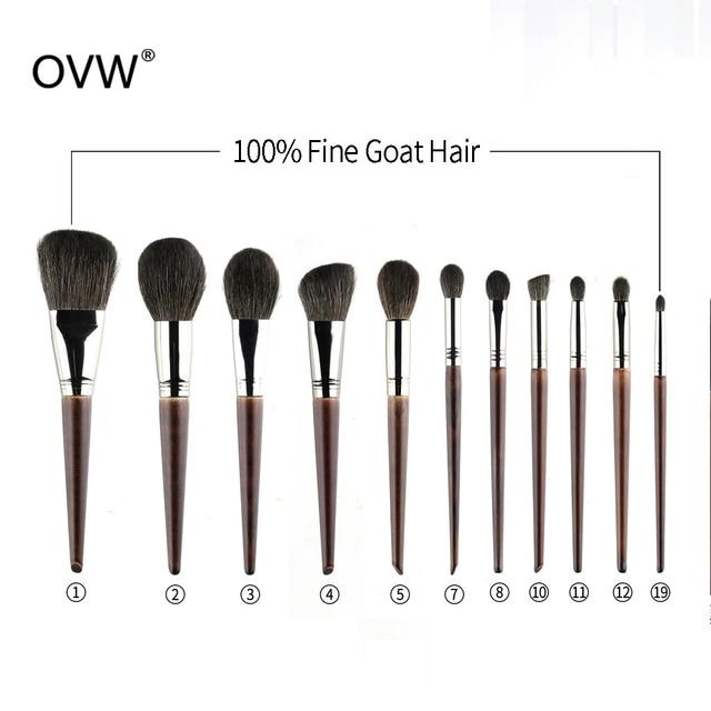 OVW  Face Goat Hair Powder Brush kist dlya pudry Lose Powder Pressed Porder Makeup Brushes kisti makiyazh Professional 5