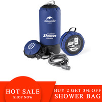 Naturehike Outdoor Hiking Light Shower Bag 11L Pvc Outdoor Inflatable Shower Pressure Shower Portable Camp Shower Water Bag