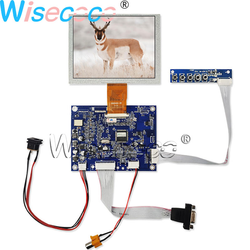 """VGA AV Controller Board 5/"""" ZJ050NA-08C Replcace AT050TN22 V1 640x480 LCD Screen"""