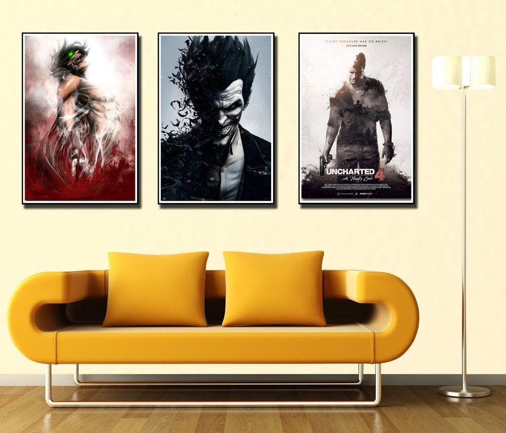 Batman DC Anime Silk Cloth Art Poster Decor 19L