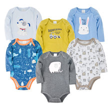 Детский Цветной комбинезон; 6 шт/лот; roupa de bebe; Одежда