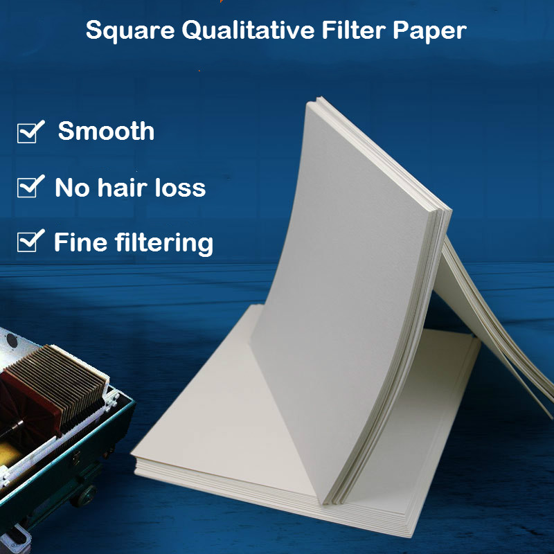 Square Qualitative Filter Paper Oil Detect Lab Filter Paper 30cm*30cm For Industrial Scientis Research Teach Experiment 100 Pcs