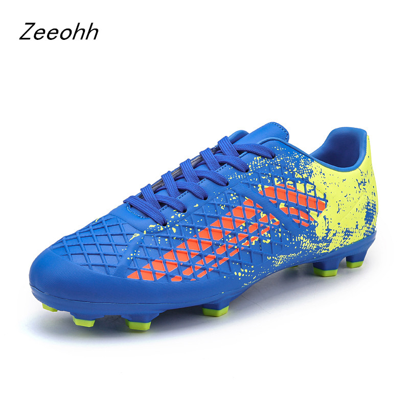 Brand Professional Football Shoes Men Outdoor AG Soccer Cleats Athletic Trainers Sneakers Men Adults Boots Chuteira futebol Soccer Shoes     - title=