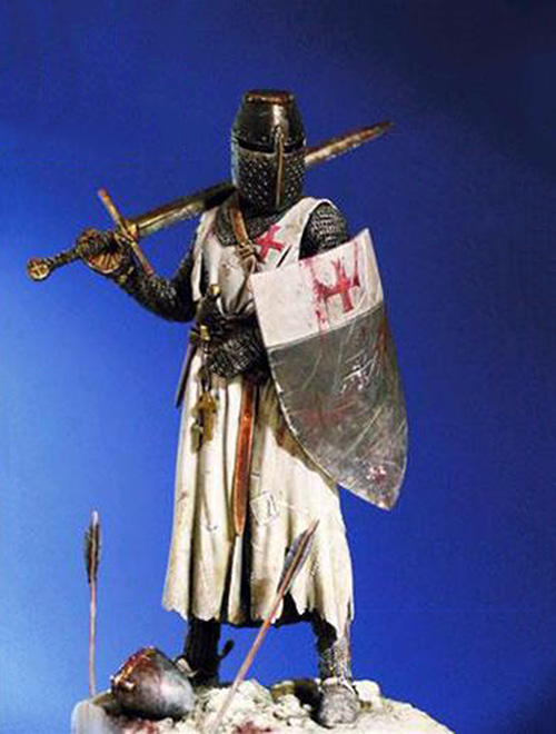 1/18 90mm Ancient Templar Knight Fantasy   Resin Figure Model Kits Miniature Gk Unassembly Unpainted