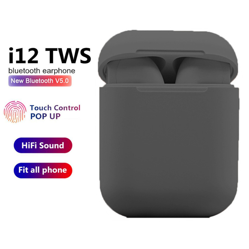 i12 TWS Mini Wireles <font><b>Bluetooth</b></font> Headset <font><b>5.0</b></font> Stereo Earphones with Charging Box Microphone for Huawei Xiaomi Phone Full <font><b>Smartphone</b></font> image