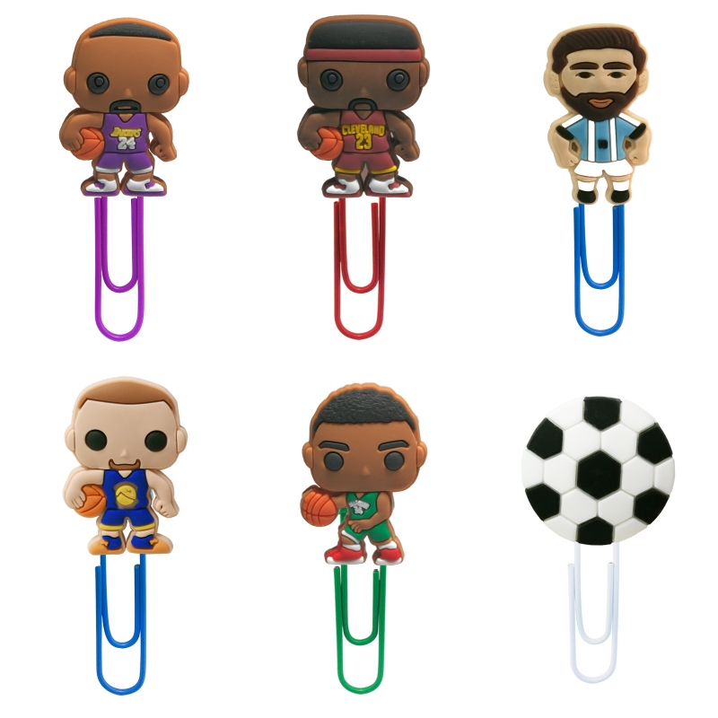 1Pcs Cartoon Sports Basketball Hoopster Bookmarks Paper Clips For School Teacher Office Supplies DIY Decoration For Kids Gifts
