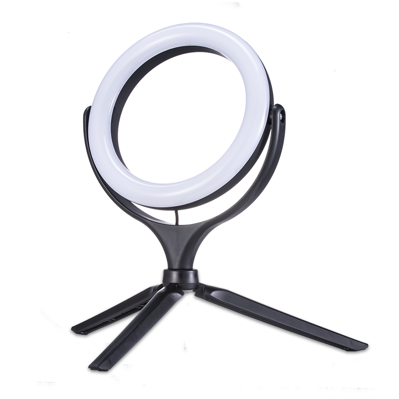NEW LED Selfie Ring Light Photographic Light 20CM Diameter Dimmable Lamp With Tripod For Makeup Live Steam Instagram Youtube