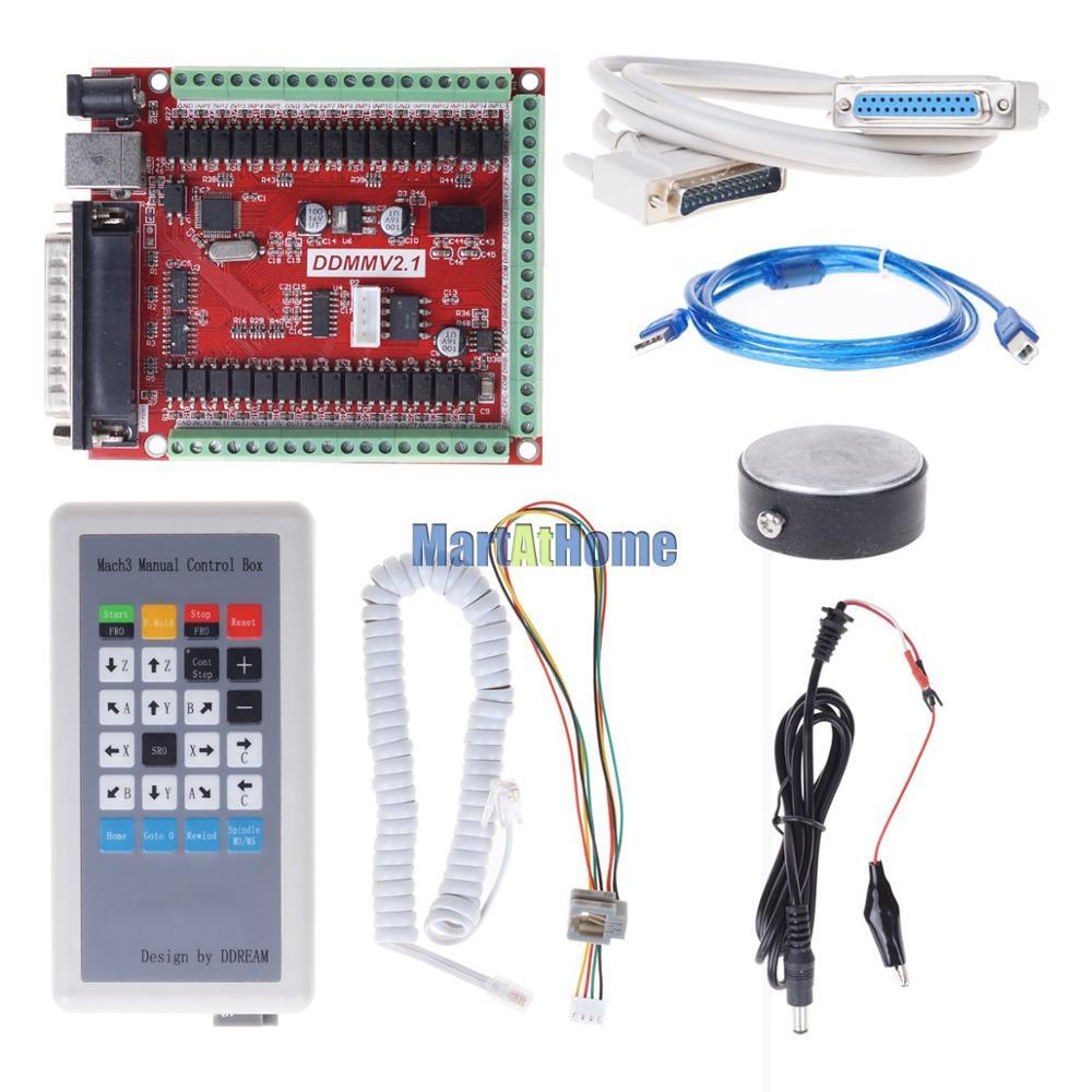 lpt mach3 breakout board kit com caixa