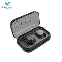Lymoc fones de ouvido tws tws8 bluetooth  5.0  sem fio  mini fones de ouvido  hi-fi  som esportivo  à prova d' água  microfone hd  mãos livres para todos os celulares