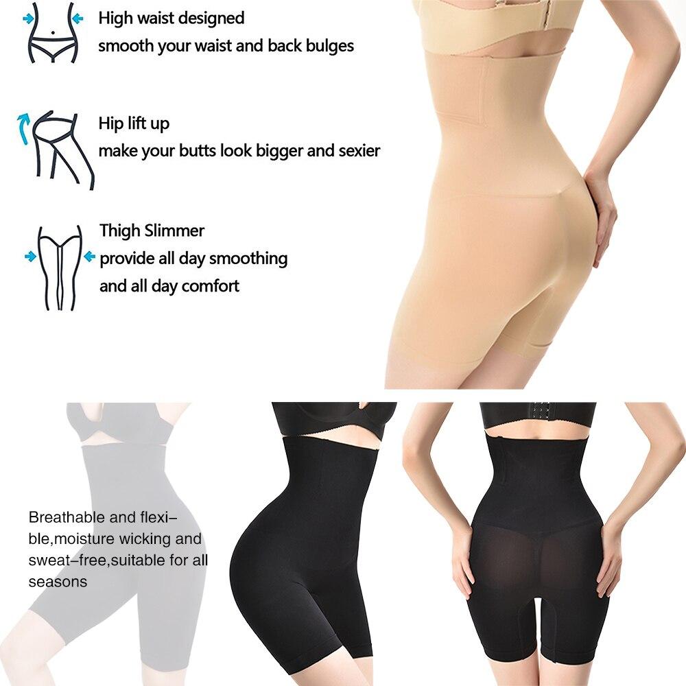 Bragas moldeadoras de cintura alta para mujer, ropa interior moldeadora de cuerpo transpirable, adelgazante, ropa interior moldeadora de glúteos, bragas sin costuras