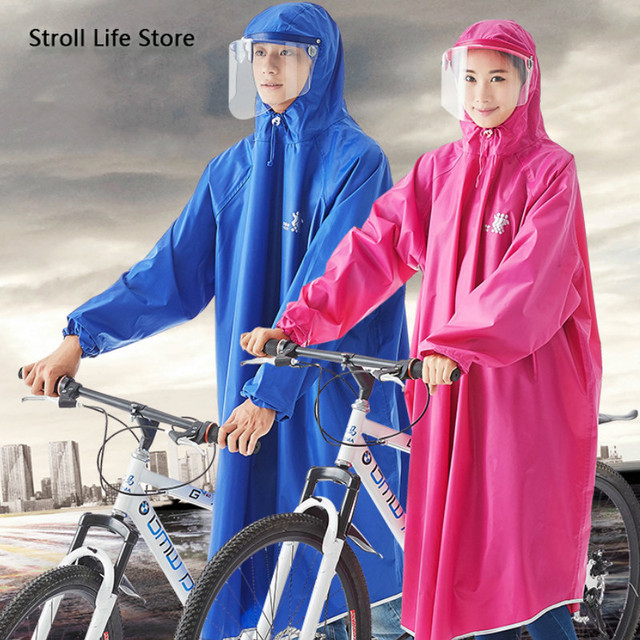 Adult Bicycle Raincoat Women Riding Thickening Rain Coat Rain Poncho Women Jacket Electric Waterproof Coat Capa De Chuva Gift