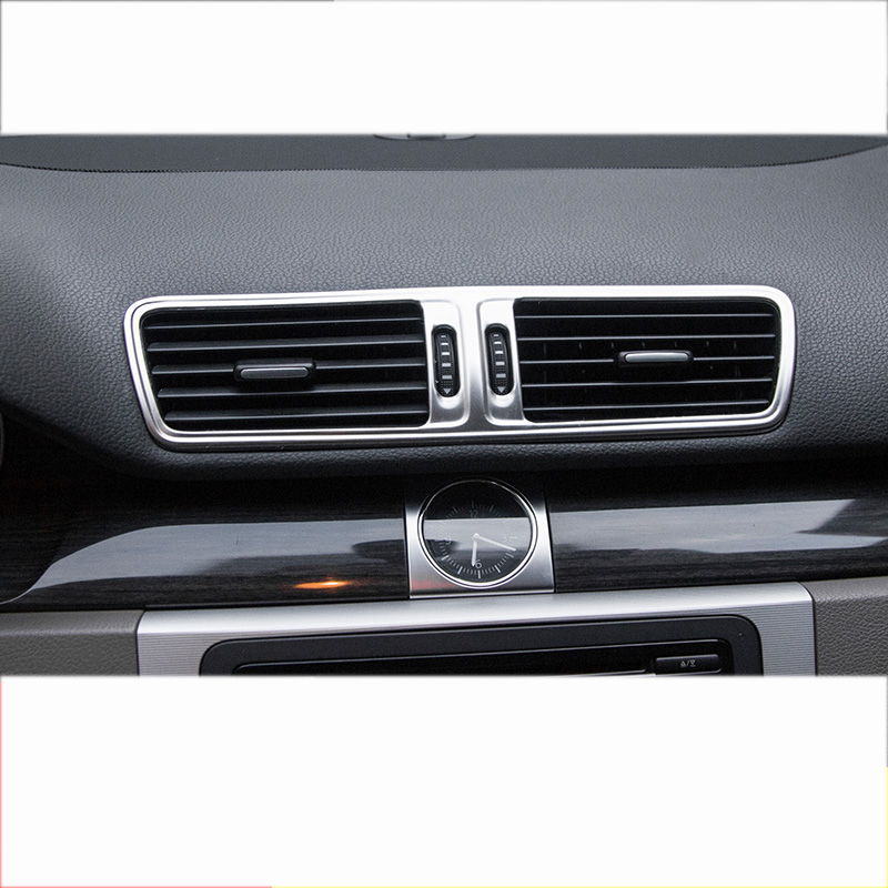 Lsrtw2017 Stainless Steel Car Central Control Window Vent Gear Decorations For Volkswagen Passat B7 2012 2013 2014 2015 2016