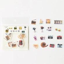 32 unidades/pacote cinema worldpaper adesivos diário diy etiqueta decorativa
