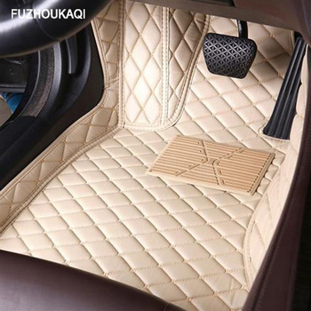 Leather car floor mats for Skoda all models octavia fabia rapid superb kodiaq yeti car styling car accessories image