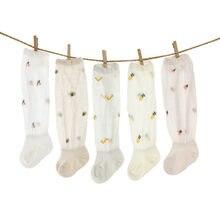 Delgada de verano recién nacido bebé calcetines de malla de algodón hasta la rodilla bebé calcetines para niñas niño fruta calcetines de bebés niños Casual Calcetines para niñas 2020