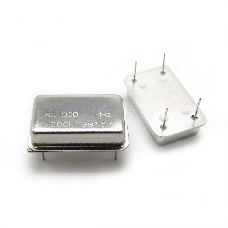 5 шт./лот прямоугольный активный кристаллический осциллятор 50 м 50 МГц 50,000 МГц 10 м 10 МГц 10,000 МГц DIP-4 в наличии