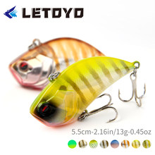 LETOYO 2021 VIB Artificial Hard Baits Sinking Vibration Fishing Lure Crankbaits Lipless Wobblers For Pike Fishing Tackle Goods