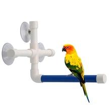 Rack-Cage Perch Budgie Standing Cockatiel-Toys Bird-Toy Parrots Shower Plastic Platform