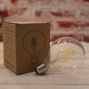 Image 2 - LATTUSO Edison Led żarówka z żarnikiem G80 G95 G125 duża globalna żarówka 4W 6W 8W żarówka z żarnikiem E27 szkło bezbarwne lampa wewnętrzna AC220V