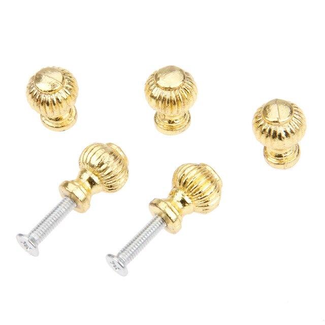 золотые ручки для мебели 5 шт ящики шкатулок шкафов буфетов фотография