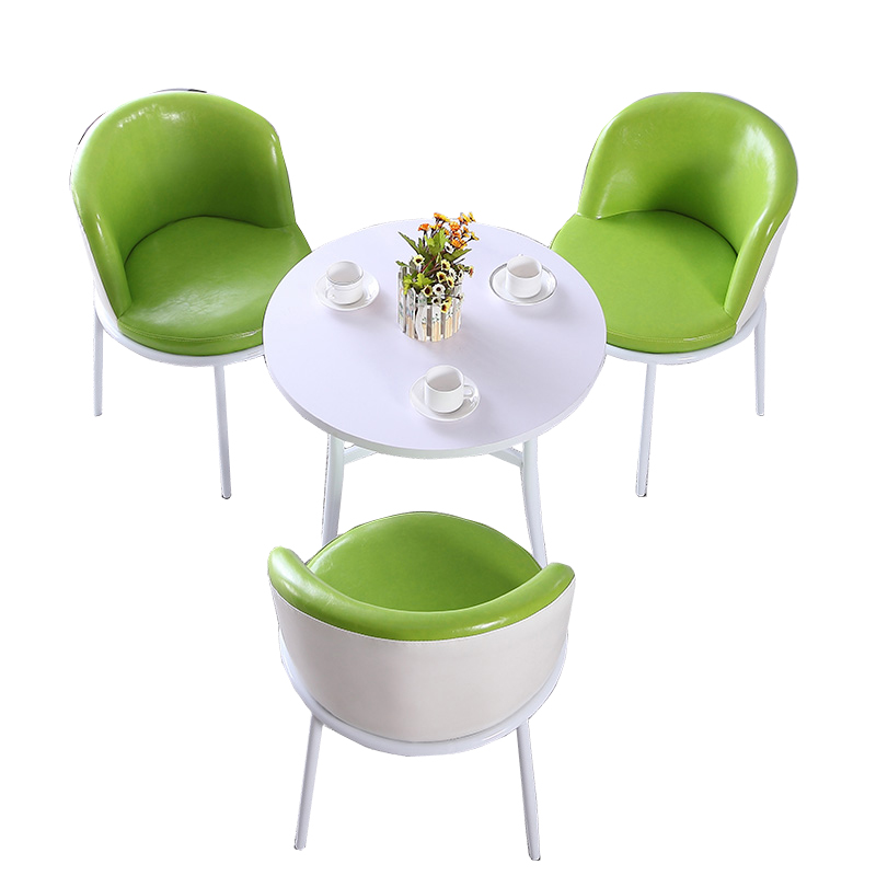 Chair back dining chair balcony small round table and  cafe simple leisure rest area negotiating reception