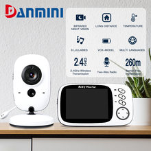 DANMINI Wireless Video Baby Monitor 3.2 Inch Color VB603 Portable Baby Walkie Night Vision Surveillance Talkie Nanny Monitoring