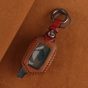 Image 5 - KEYYOU 3 Button Leather Case Cover B9/B6 Fob For Starline B9 B6 A91 A61 LCD Key Case 2 Way Car Alarm System keychain Car styling