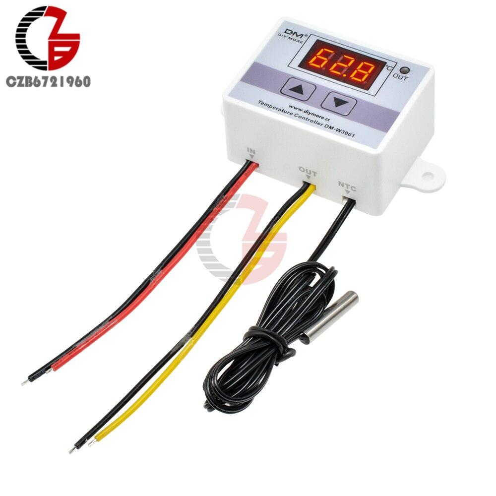 W3001 110V 220V 12V 24V régulateur de température numérique Thermostat thermorégulateur Aquarium incubateur chauffe-eau régulateur de température