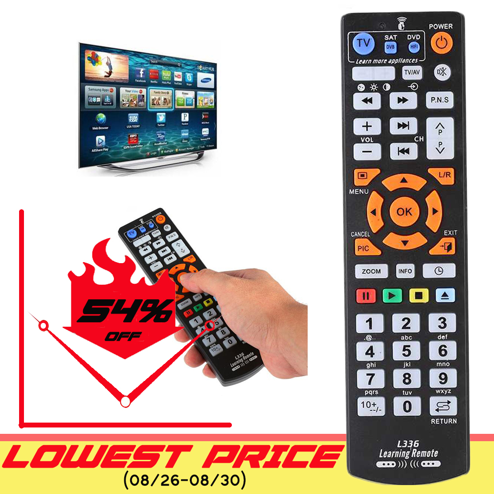 Remote-Control Tv-Box DVD Learn-Function Universal L336 Smart Ir With Copy For STB SAT