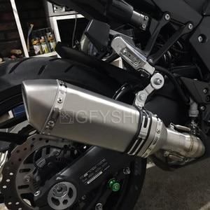 Image 5 - עבור Kawasaki Z1000 2010 כדי 2017 2018 2019 Z1000SX Ninja 1000 Z1000 בריחה להחליק על אופנוע פליטה ואמצע קישור צינור מערכת