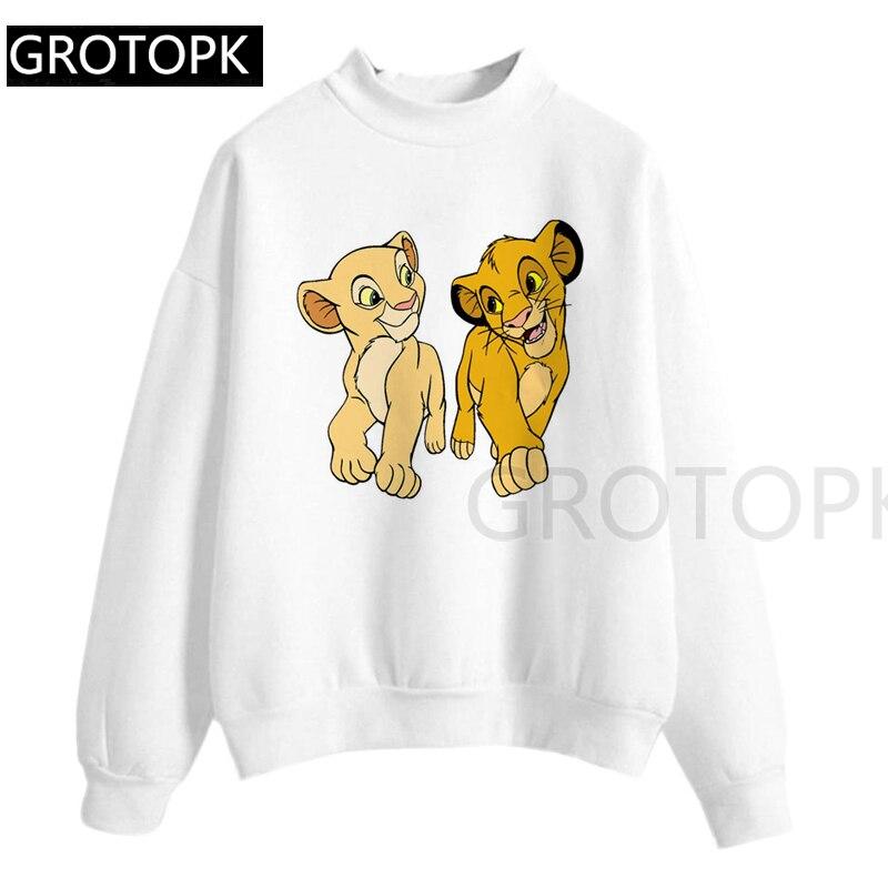 The Lion King Cartoon Print Hooded Long Sleeve Women Two Little Lions Vogue Casual Printed O Neck Hooded Hakuna Matata Hoody
