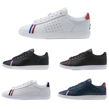 New High Quality Leather Le Coq Sportif Men's Athletic Shoes Women's Skateboarding Sneakers Casual Couple Increase Walking Shoes