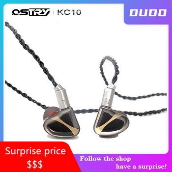 OSTRY KC10 HiFi Audio Double Dynamic(10mm+7mm) driver In-ear Monitor earphone IEM with 2pin 0.78mm Detachable Cable Alloy Cavity
