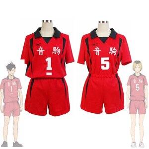 Haikyuu Nekoma Высокая Униформа Tetsurou Kuroo Kozume Kenma костюм для косплея Джерси Набор волейбольная команда спортивная одежда блонд черный парик