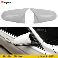 Cubierta de espejo de plástico de estilo F23 M para BMW 2 Series 2 puertas 218i 220i M235i M240i 2014 2018 año F22 coupe tapa de espejo trasero blanco para coche|Espejo y coberturas| |  -