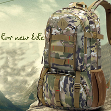 Men Tactical Camouflage Climbing Backpack Military Multifunctional Large capacity Package Fishing bag Camping Mountaineering