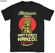 Hattori Hanzo Zwaard en Sushi Anime Classic Bill Kill Film Cult Manga shubuzhi Mode Retro Zomer Mannen Ontwerp T-shirt sbz8370(China)