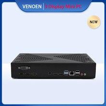 VENOEN Mini computadora de juegos Intel i7 7700 i5 8500 de 7500, 8100 NVIDIA GTX1050TI Mini PC de escritorio multi-pantalla sincronizar pantalla