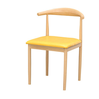 Iron horn chair imitation solid wood backrest stool simple dining chair coffee dessert tea shop restaurant table and chair combi