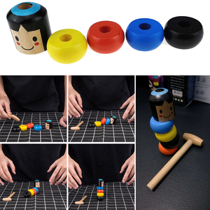 New Immovable Tumbler Magic Stubborn Wood Man Toy Funny Unbreakable Toy Magic Tricks Close-up Stage Magic Toys(China)