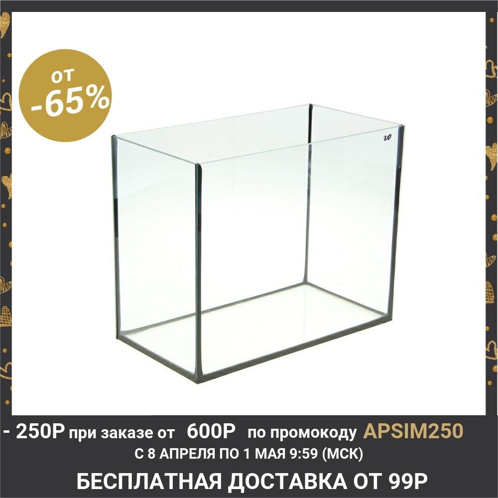 Аквариум прямоугольный без крышки, 20 литров, 36 x 19 x 29 см 1117876