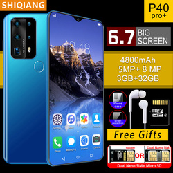 SOYES P40 Pro Mobile Phones Newly Global Version 3+32GB Hexa core Android 4800mAh Cellphones 6.7inch Waterdrop Screen Smartphone