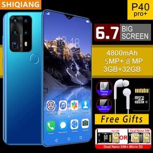 SOYES P40 Pro мобильных телефонов недавно глобальная версия 3 ГБ + 32 ГБ, гекса core Android 4800 мАч мобильных телефонов 6,7 дюймов в виде капли воды, Экран с...