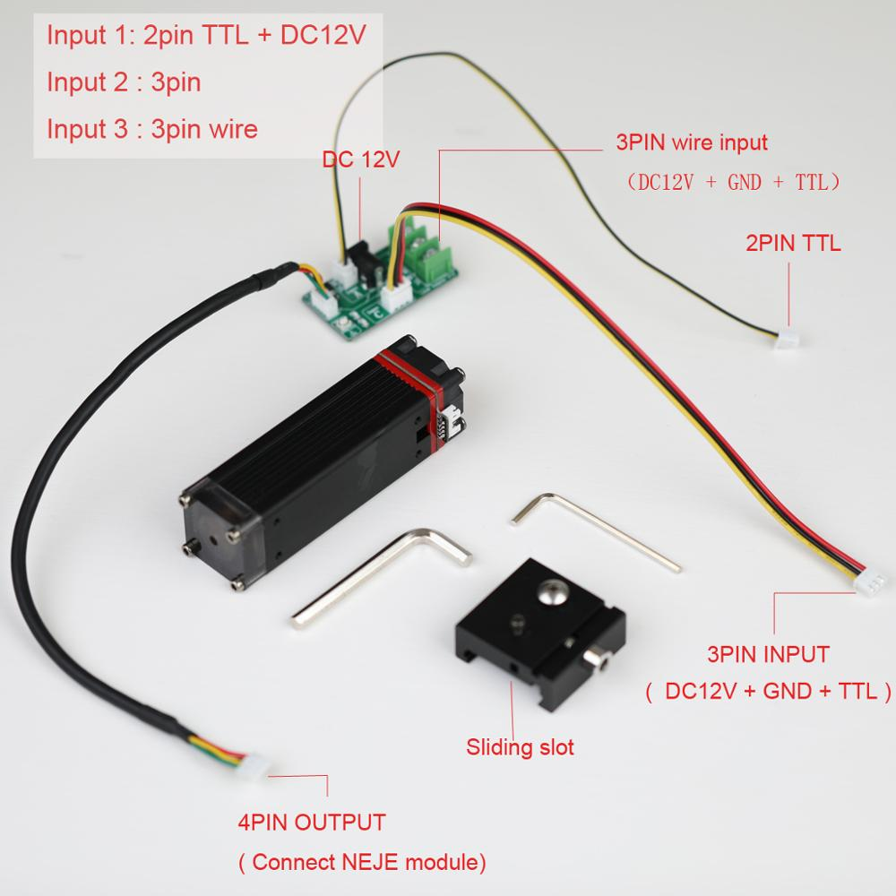30W laser module cutting module kit, fixed focal length sliding focus-visual protection-smoke blowing assistant