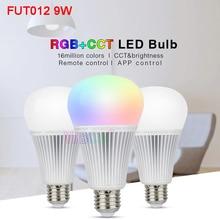 Miboxer 9W RGB+CCT LED Bulb FUT012 E27 light AC100~240V Smart led lamp 2.4G Remote /APP Control