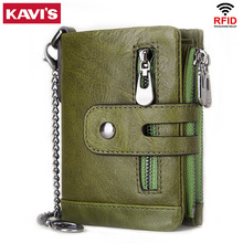 KAVIS 100% Genuine Cowhide Leather Women Wallet Female Purse PORTFOLIO Portomonee Coin Bag Small Mini Walet Pocket for Fashion
