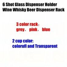 6-Shot Glass-Dispenser-Holder Drinking-Tools Whisky Rack-Bar-Accessories Liquor Wine