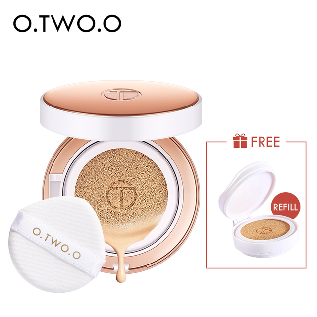 O.TWO.O Air Cushion BB Cream CC Cream Moisturizing Concealer Bright Makeup Base Long Lasting Foundation Cream With Makeup Puff 1